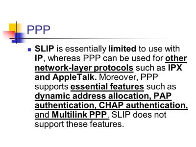 Point-to-Point Protocol (PPP) - ppt video online download