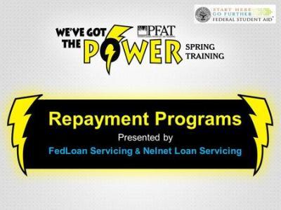 Federal Student Loan Repayment Options NEASFAA, March 2016 Tom Ramaeker Senior Strategic ...