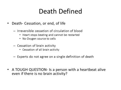 Death: Meaning, Manner, Mechanism, Cause, and Time - ppt video online download