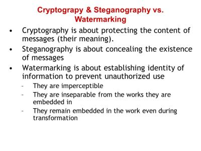 Watermarking & Steganography - ppt download