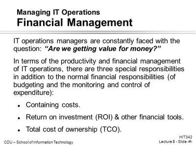 Enterprise IT Management Managing IT Operations - ppt video online download