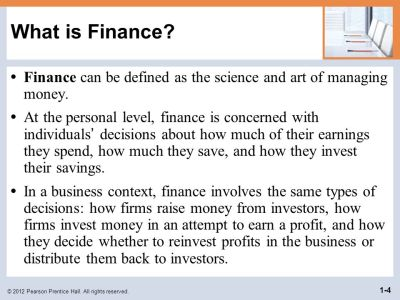 Objectives Define finance and the managerial finance function. - ppt download