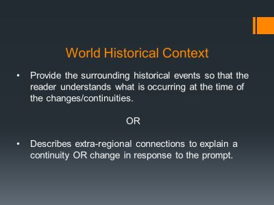 The Continuity and Change Over Time (CCOT) Essay - ppt video online download