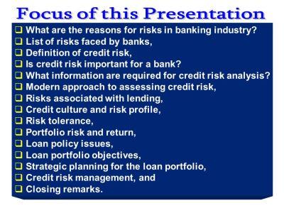 Credit Risk Management - ppt download