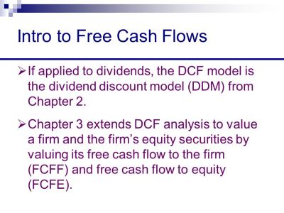 Chapter 3 Free Cash Flow Valuation - ppt download