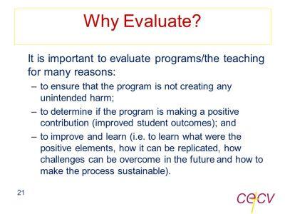 CECV Intervention Framework Module 6 Evaluation - ppt download
