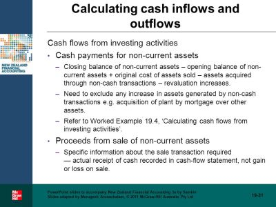 The statement of cash flows - ppt video online download