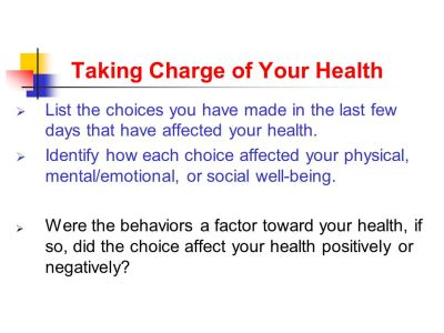 YOUR HEALTH and WELLNESS - ppt download