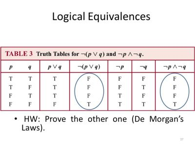 Chapter 1: The Foundations: Logic and Proofs - ppt download