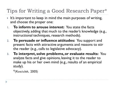 Good research paper tips