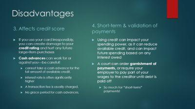 Advantages & Disadvantages of Credit Cards - ppt video online download