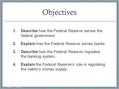 Chapter 16: The Federal Reserve and Monetary Policy Section 1 - ppt video online download