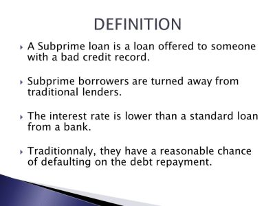 THE SUBPRIME MORTGAGE CRISIS - ppt download