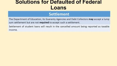 Student Loan Options and Chapter 13 Bankruptcy - ppt download
