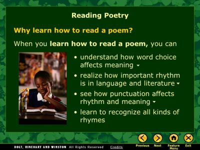 Why Learn How to Read a Poem? Tips for Reading Poetry Use the Strategy - ppt video online download