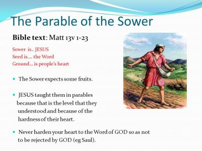 The Parable of the Sower - ppt video online download