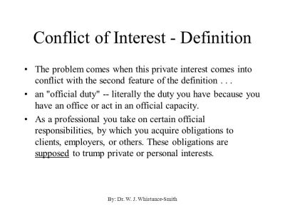 Ethics and Conflict of Interest - ppt video online download