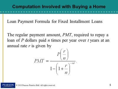 Monthly Payments Formula For Fixed Installment Loans - Online Application
