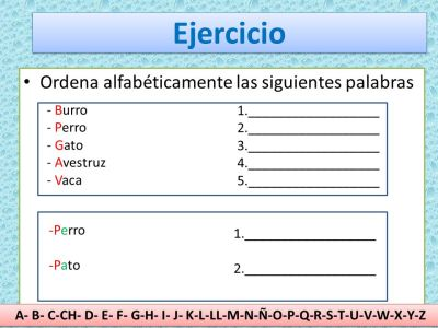 Ordenar palabras alfabéticamente. - ppt video online descargar