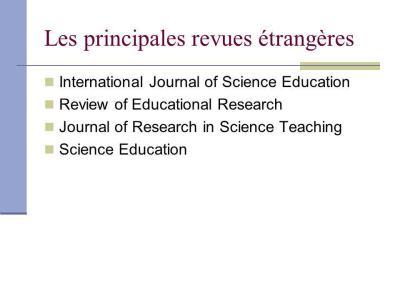 Didactique des Sciences vs Science Education Research - ppt video online télécharger