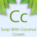 soap with coconut cream