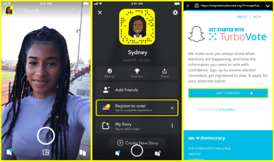 Snapchat offers smart and easy way to register new voters with TurboVote