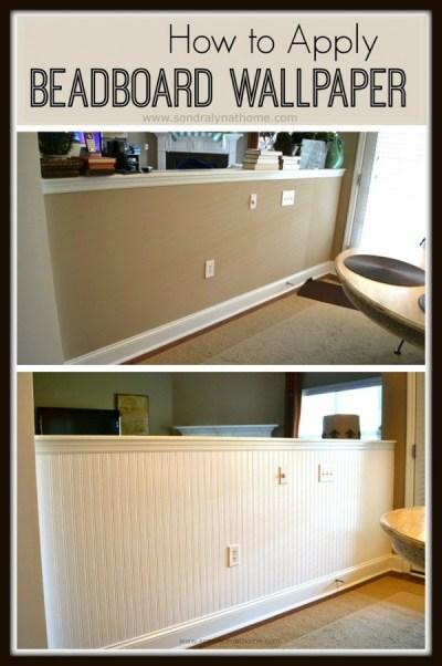 How to Apply Beadboard Wallpaper - Sondra Lyn at Home