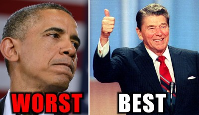 best worst president-OBAMA-REAGAN