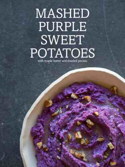 Mashed Purple Sweet Potatoes | Side dish recipe | Spoon Fork Bacon