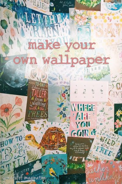 How to Make Your Own Wallpaper - Spoonful of Imagination
