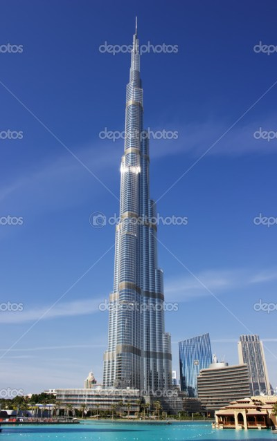 Burj Khalifa - the world's tallest tower at Downtown Burj Dubai – Stock Editorial Photo ...