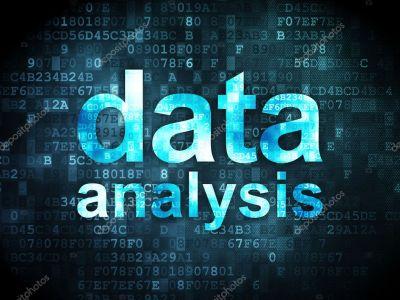 Information concept: data analysis on digital background — Stock Photo © maxkabakov #17468049