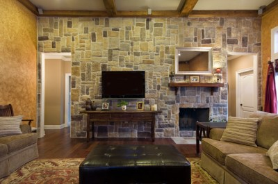 Ray Residence - Craftsman - Living Room - new orleans - by Custom Home Designs