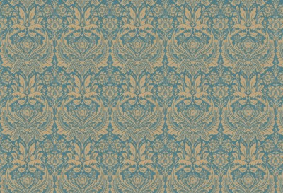 Desire Wallpaper, Teal and Gold traditional-wallpaper