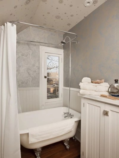 Small Bathroom Wallpaper Home Design Ideas, Pictures, Remodel and Decor
