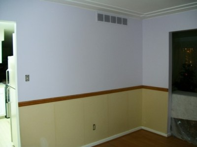 Help !! Need ideas on how to finish bottom half of wall in dining room.