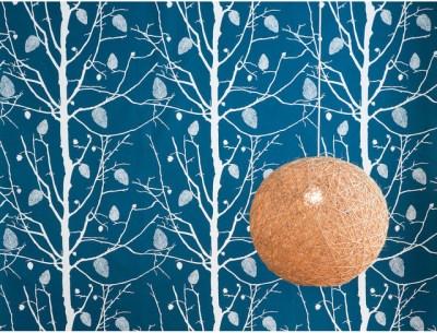 ferm LIVING Family Tree Wallsmart Wallpaper in Petrol | Wayfair - Wallpaper - by Wayfair
