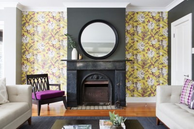 6 Ways to Highlight Your Fireplace With Wallpaper
