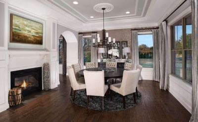 Model Home Interiors - Transitional - Dining Room - Orlando - by Intermark Design Group