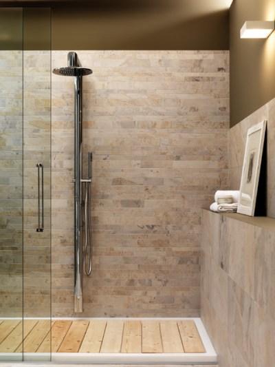 Zen Shower & Wainscott - Craftsman - Bathroom - los angeles - by Stoneville USA Inc.