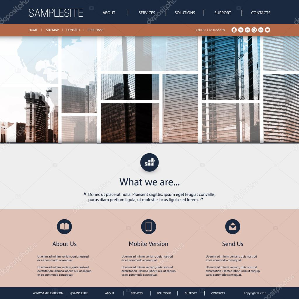 Website Design for Your Real Estate Business with World Map and     Modern Colorful Abstract Web Site Creative Design Element Template Layout  with Tiled Mosaic Sunny Cityscape Skyline Images  Urban Theme