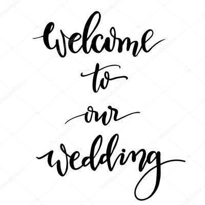 Welcome to our wedding hand-lettering and calligraphy ...