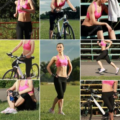 Sport-Collage. Sport- und Lifestyle-Konzept — Stockfoto ...