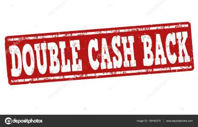 Double cash back sign or stamp — Stock Vector ...