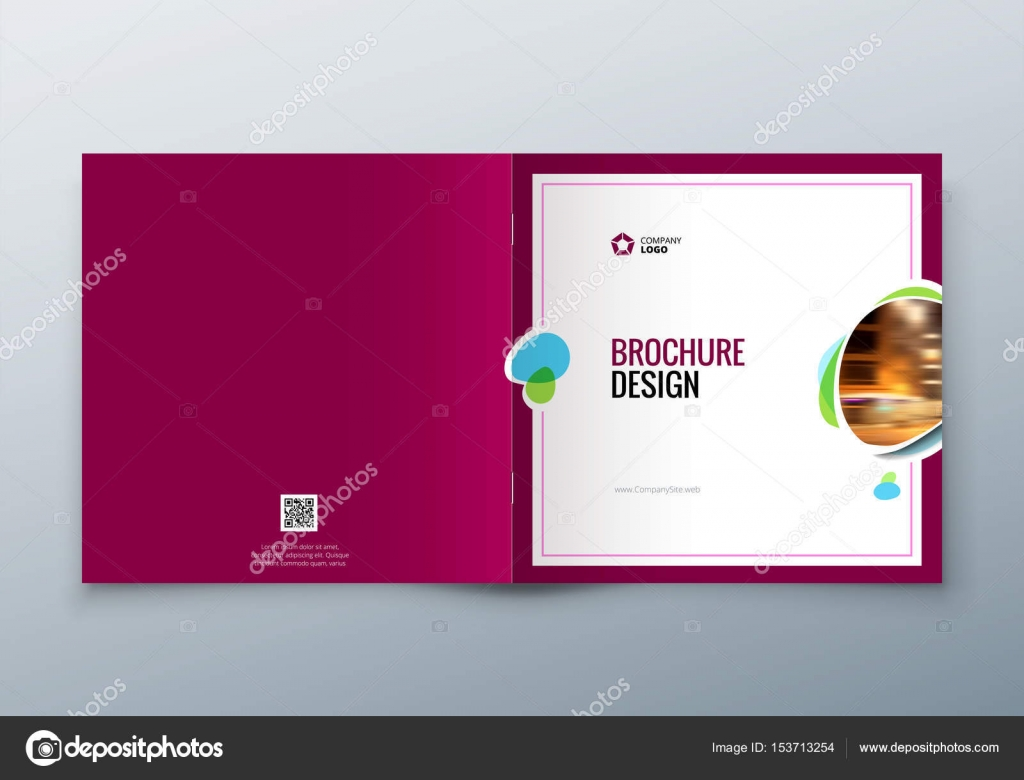 Square Brochure design  Corporate business template for rectangle     Corporate business template for rectangle brochure  report  catalog   magazine  Corporate Business Annual Report Cover  brochure or flyer design      Vector by