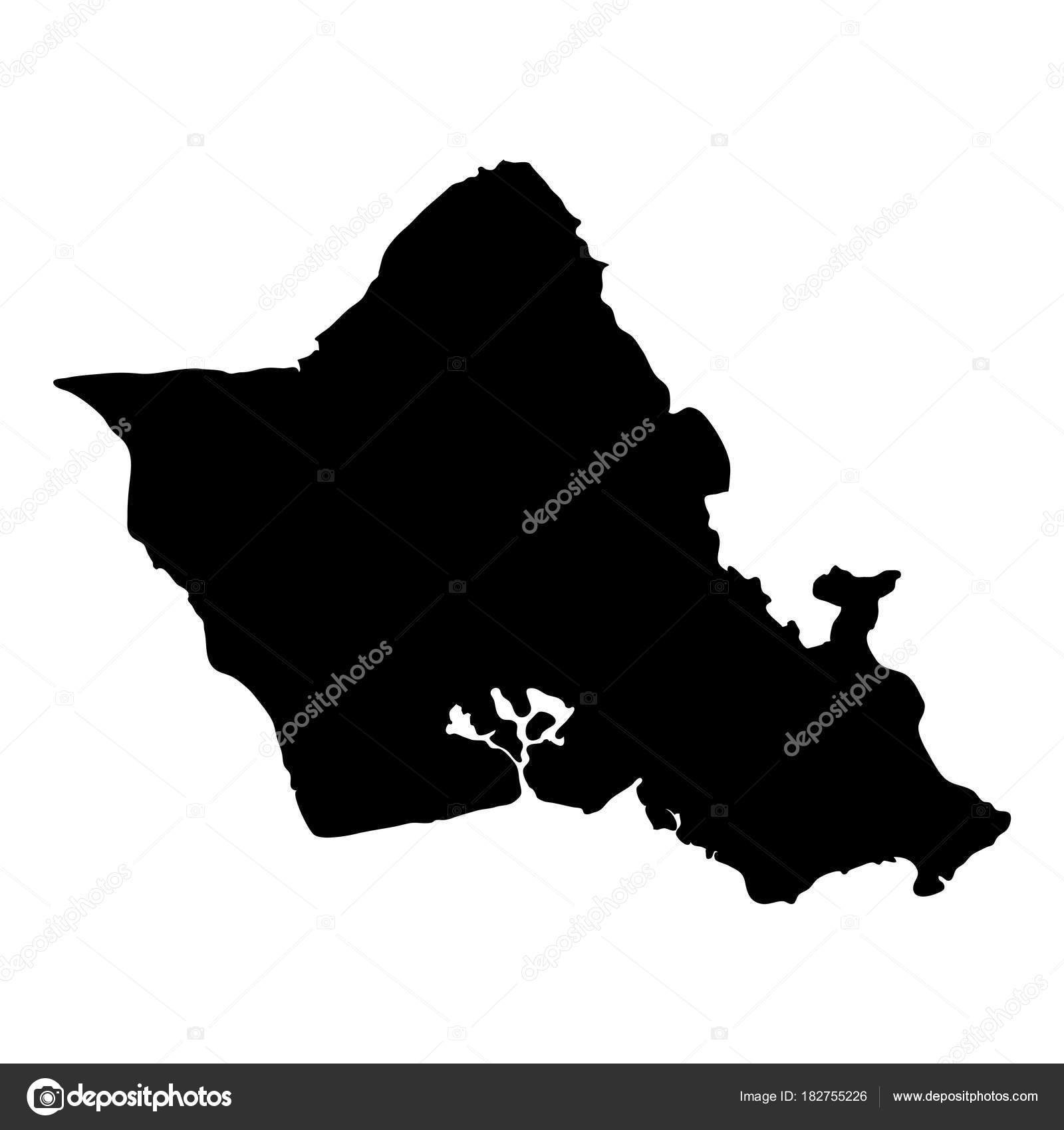 Oahu map Island silhouette icon Isolated Oahu black map outline     Oahu map Island silhouette icon Isolated Oahu black map outline Vector  illustration     Stock Vector