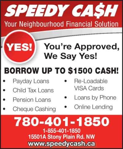 Speedy Cash Payday Advances - 15501A Stony Plain Rd NW, Edmonton, AB