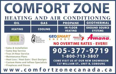 Comfort Zone Heating & Air Conditioning - Cobourg, ON ...