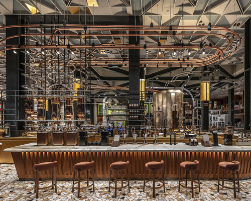 retail interiors   design news and projects     starbucks opens first store in italy  tapping its design culture to  succeed