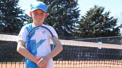 Tennis: Nine-year-old prodigy Charlie Camus playing at 12U national titles